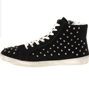 Steve Madden Twynkle High Top Studded Sneakers